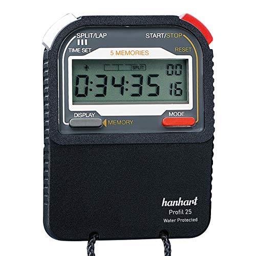 Power&Handel HANHART - Cronómetro digital (perfil 25, 1/100 segundos)