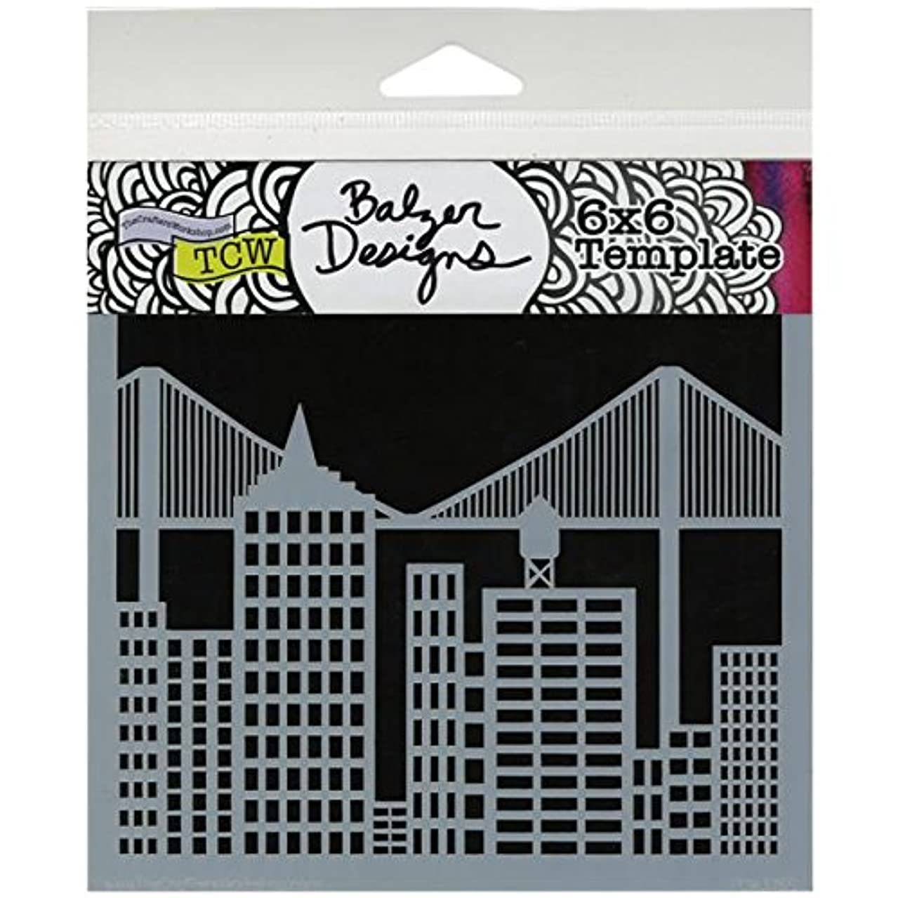 CRAFTERS WORKSHOP Template, 6 by 6-Inch, Cityscape