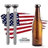 Caplan Coolers: Stainless Steel Beer Bottle Chiller Cooling Sticks (Set of 2)
