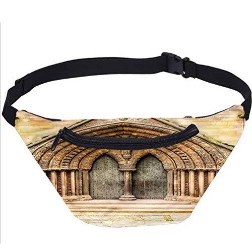 Bolsa de viaje rústica, estilo catedral medieval, para correr, viajes, deportes, para hombres, mujeres, compañeros de trabajo