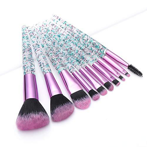 10 Stück Imitieren Diamant Kristall Make-Up Pinsel Set Foundation Rouge Pulver Augenbrauen Wimpern Pinsel Gemischte Lidschatten Lippen Make-Up Tool Set