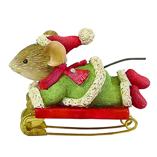 Enesco Tails with Heart Safety First Sledding Figurine, 1.57 Inch, Multicolor