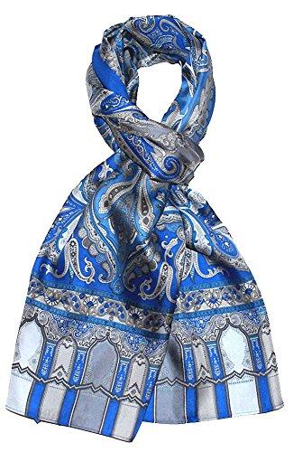 Lorenzo Cana Herren Seidenschal aufwändig bedruckt Paisley Muster Schal 100% Seide 50 x 165 cm harmonische Farben - 8906511