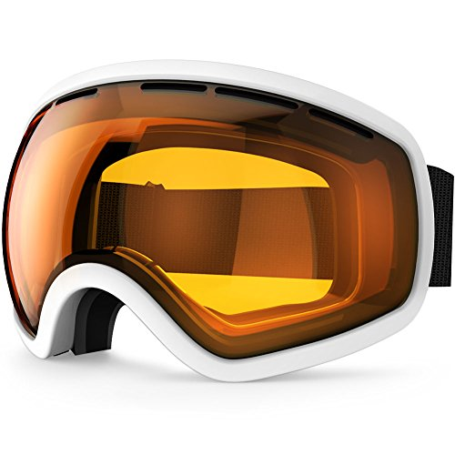 ZIONOR Lagopus X10 Rahmen/Rahmenlos Snowboard Skibrille mit Abnehmbar PC Linse 100{73f381b79415095e6246d883fee794d24ff5111d64145b26800e8456e26ce8e8} UV400 Schutz Anti-Fog Periphere Anzeigen mit Fixpunkt Anti-Rutsch