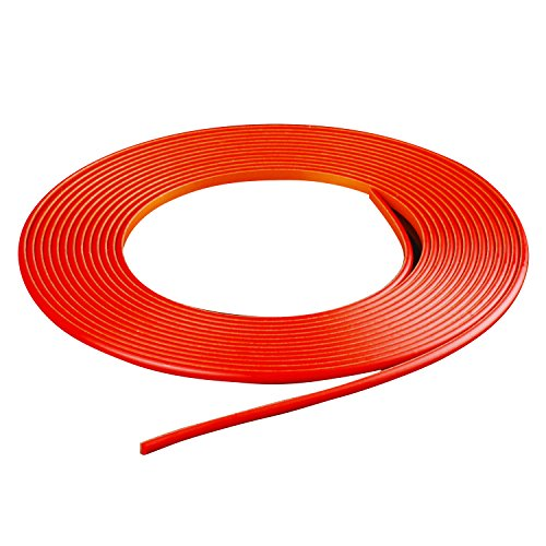 Hypersonic 5M Red DIY Rubber Door Edge Guard Strip Molding Trim Protector For Car Auto Interior Exterior