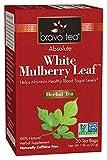 Bravo Tea, White Mulberry Leaf Tea, Caffeine Free, 20 Tea Bags