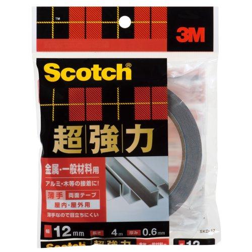 3M スコッチ 超強力両面テープ 金属 一般材料用 12mm×4m SKD-12