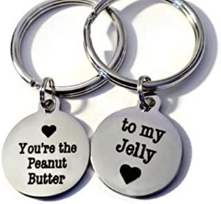 Moonstone Creations Matching Key Chains, You're The Peanut Butter to My Jelly, Cute Valentine's Gifts