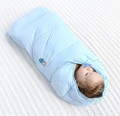 Herbst und Winter Quilt Baby Baby Daunenschlafsack Baumwolle Herbst und Winter verdickt Kind Anti-Kick Quilt 95cm0-12 Monate-blau_95cm kinder schlafsack schlafsack für kleinkinder