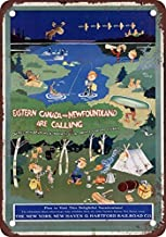 NGFD 1926 New Haven Railroad Eastern Canada Vintage Look Reproduction Metal Tin Sign 8x12 inch