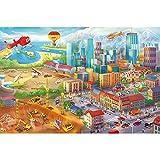 GREAT ART® XXL Poster Kinderzimmer – Großstadt Comic