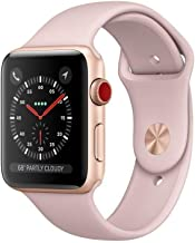 Apple Watch Series 3 (GPS), 42mm Gold Aluminum Case with Pink Sand Sport Band - MQL22LL/A (Renewed)
