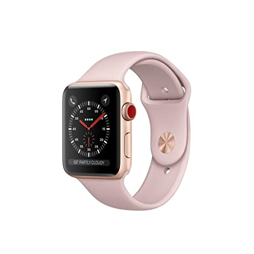 Apple Watch Series 3 42mm Smartwatch (GPS Only, Gold Aluminum Case, Pink Sand