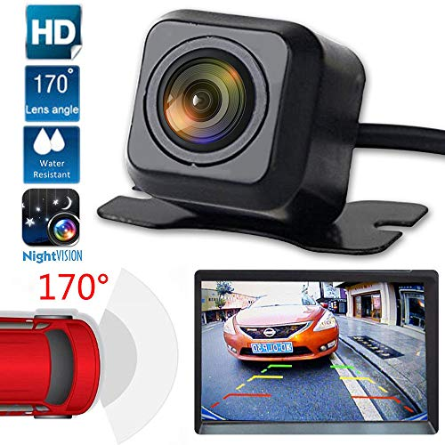 Fine Backup Camera Night Vision - HD Car Rear View Parking Camera - Best 170° Wide Waterproof IP67 Reverse Auto Back Up Car Camera Fits All Vehicles (Black)