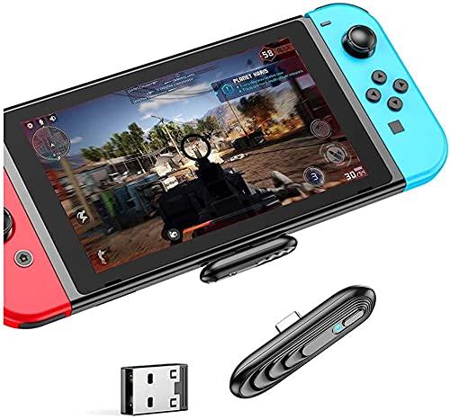 Adaptador inalámbrico Bluetooth 5.0 para Nintendo Switch/Switch Lite, convertidor USB C a A para auriculares Bluetooth, altavoces, PS4/5, PC, portátil, TV Plug & Play