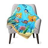 GIPHOJO Baby Fluffy Blanket Double Layer White Backing Bubble Guppies Throw Blankets for Newborn Girls Boys Toddler Infant Receiving Blanket for Crib Stroller Travel 30 x 40 Inch Gift