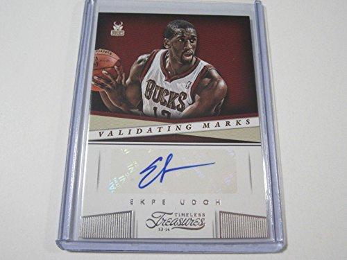 2013-14 Panini Timeless Treasures Validating Marks #22 Ekpe Udoh Auto Card - Basketball Slabbed Autographed Cards