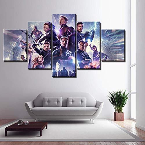 SSOOB Home Art lienzo pared arte impresiones mural Película héroe personaje super luchador 150x80 CM 5 Lienzos Handart Cuadro En Lienzo Cinco Partes Hd Clásico Óleo Impresiones Decorativas Cartel Arte