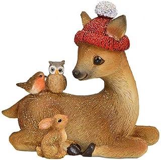 Gänse Dekofiguren mit Mützen /& Schuhen Weihnachtsdeko Poly 2er Set sort 18 cm