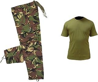 Juego de diseño de Camuflaje para niños 1 diseño de Estampado Militar Pantalones y Disfraz de T-Camiseta de Manga Corta Un...