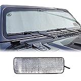 Voodonala for Jeep JL Windshield Sunshade Window Sun Shade Foldable Sun Visor for Jeep Wrangler JL JLU 2018-2021, for Jeep Gladiator JT 2020-2021