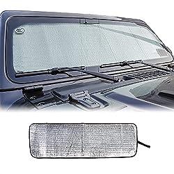 small Voodonala for Jeep JL Windshield SunVisor Folding SunVisor for Jeep 2018 2019…