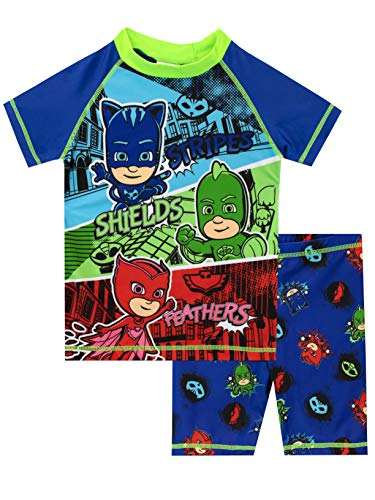 PJ Masks Boys' Two Piece Swim Set Multicolor Size 6