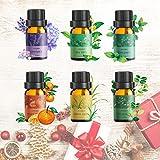Aceite Esencial Puros,Ato Bea 6 * 10ml 100% Aceites Esenciales Naturales Lavanda, Hierba de Limón, Menta, Eucalipto, Árbol de té, Naranja Dulceaceites Esenciales Para Humidificador