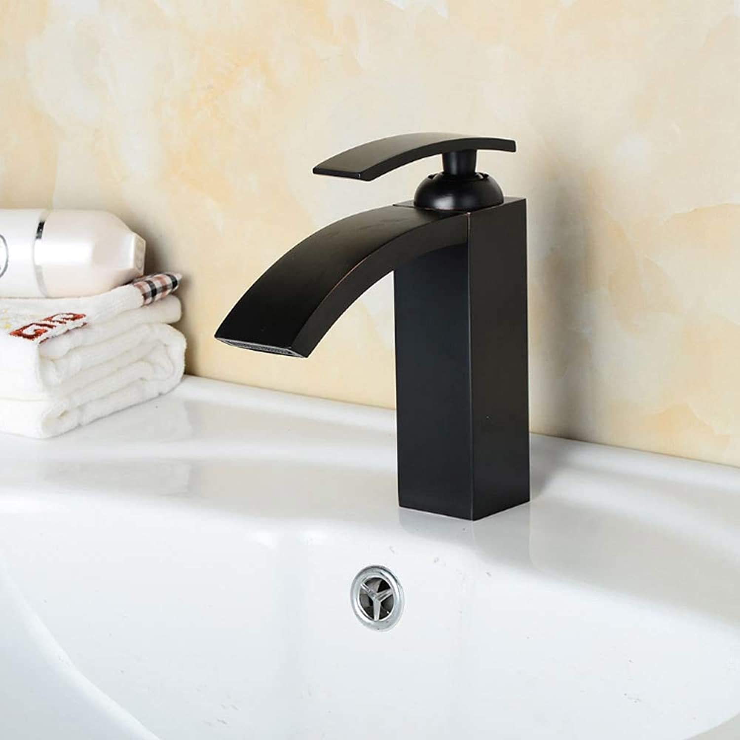 Decorry Black Antiquing Brass Bathroom Faucets Deck Mount Vanity Vessel Sinks Mixer Basin Faucet Tap