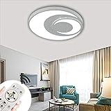 COOSNUG 48W Lámpara de techo LED Luz de techo regulable Lámpara de sala de estar moderna Lámpara de panel de cocina de dormitorio con control remoto