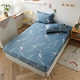 HAIBA Spannbettlaken Jersey - 100prozent extra Dicke & weiche Baumwolle, Spannbettlaken - Bettlaken für Steghöhe schnell trocknend,180x200x30cm