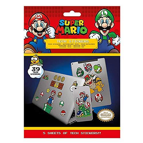 Super Mario Mushroom Kingdom Tech Aufkleber, 39 Stück