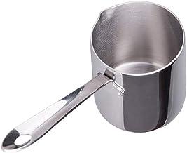 UPKOCH Aquecedor de leite em creme de manteiga e café, 370 ml, chaleira de café de aço inoxidável com bico para cafés case...