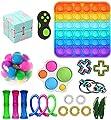 Nokiwiqis Fidget Toy Packs, Set De Juguetes Sensoriales Fidget Baratos con Simple Dimple Pop Bubble Infinite Cube Stress Ball y Anti Stress Relief Toy Stress Ball (22 F) de
