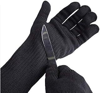 ThreeH Guanti resistenti al taglio e protezione del braccio con filo di acciaio inossidabile per macellaio da cucina Guanti di sicurezza di lavoro GL15