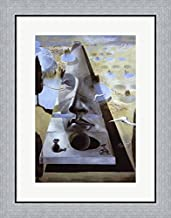 Apparition of The Face of Aphrodite of Knidos, c.1981 by Salvador Dali Framed Art Print Wall Picture, Flat Silver Frame, 21 x 26 inches