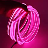 XUNATA 12V Flexible LED Neon Rosa, 3m Impermeable 2835 Tira de LED Strip Light, Luz de la Cuerda para Exterior Fiestas Decoración Party Sign Publicidad Firmar