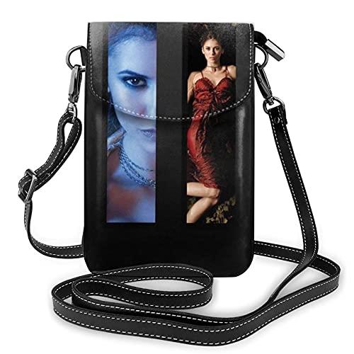 XCNGG Vampire Diaries Crossbody Bags for Women's Crossbody Handbags Cell Phone Purse Waterproof Leather Handbags Small Wallet