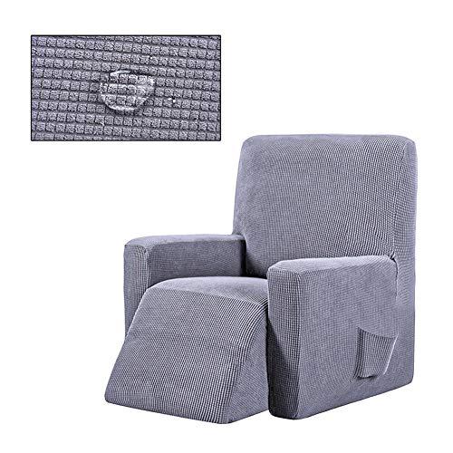 Gramke Funda reclinable 100% Impermeable con Bolsillo Lateral para sofá, Protector de Muebles para niños, Mascotas, Perros y Gatos, Gris Claro