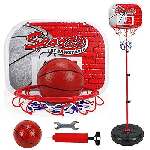 Juguetes de baloncesto 34 * 170 cm Baloncesto ajustable Rack de soporte para 1-14 años para niños Bebé al aire libre Bola de interior Deporte Tablero de rot Shoot Toy Toy Toy Toy Baloncesto Hoop Balon