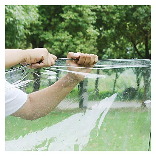 JYW-coverS YANJINGYJ Jardín Transpirable Lona, Gazebo Copertura Toldo, Impermeable Canvas for GardenMate Muebles Exteriores Intemperie, 400g /m², 0.3mm (Color : Clear, Size : 2x5m)