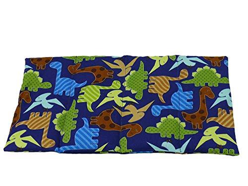 Fitzibiz Körnerkissen Dinos aus 100{17ad67b21f836d92c682e8cabeee8255630d001831f7042ea2814fb9457c24d9} Baumwolle und Dinkelfüllung, Dinodruck 39x20cm (Dinkel-, Raps-, Weizen- oder Kirschkernfüllung)