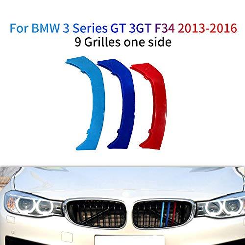 3 Colores Adhesivos para Parrilla Delantera para 3 Series GT 3GT F34 328i 320i 335i xDrive 2013-2016 3 Piezas (9 Varillas)
