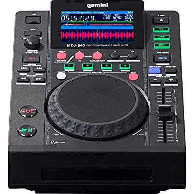 Gemini MDJ-600 DJ Media Player with 4.3 Inch Colour Display and 5 Inch Jogwheel