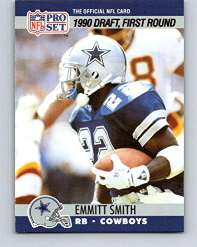 1990 Pro Set #685 Emmitt Smith Dallas Cowboys Rookie Card - Mint Condition Ships in New Holder