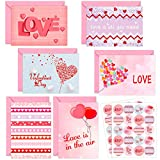 Valentines Cards with Envelopes 12 Valentine Greeting Cards Blank Inside Adults