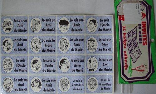 Invitation du Mariée - 32 badges Adhésifs - Mariage - Décorations