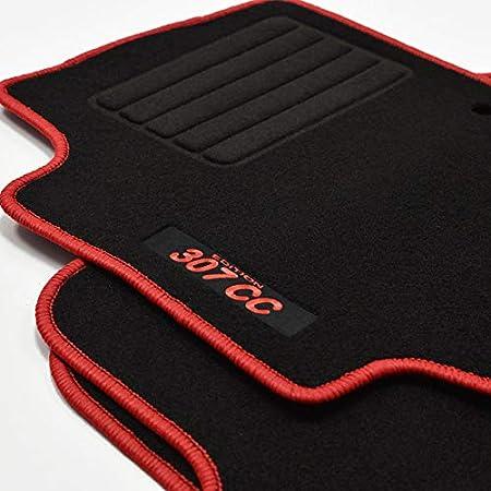 J J Automotive Velours Fußmatten Autoteppiche Automatten Für Peugeot 307 Cc 2003 2009 4tlg Bef Rund Auto