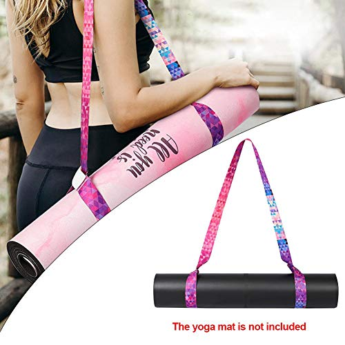 SNIIA Elastische yogamat riem, verstelbare 2-in-1 sling - matdrager & stretching riem, duurzame en comfortabele zachte textuur [mat niet inbegrepen] Grand Big Sale Physical