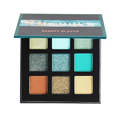 Coloré(TM) Palettes de maquillage 9 couleurs fard à paupières Shimmer Mate Palette Cosmétiques de maquillage,cosmétique scintillement Matte ombre palettes Eye maquillage (D)